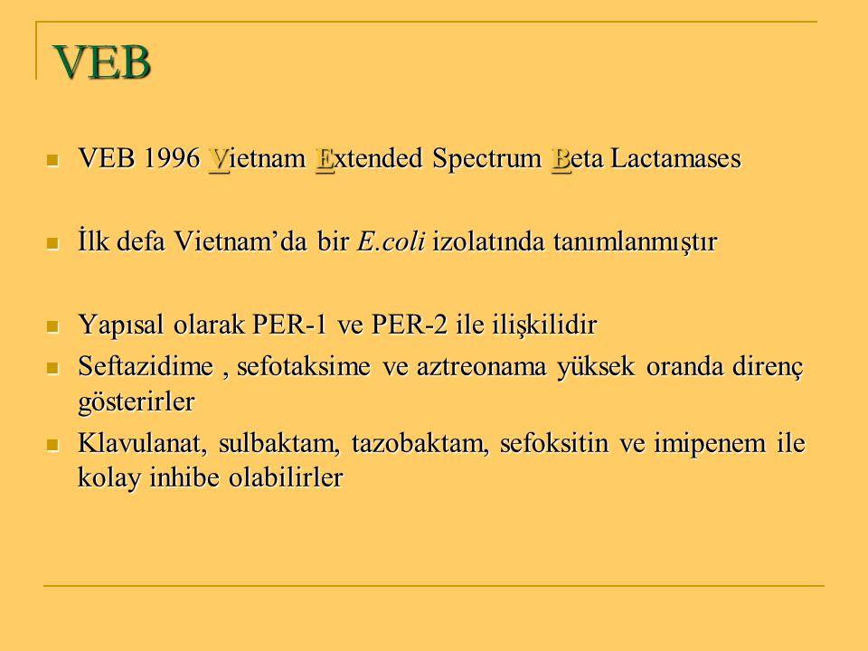 VEB VEB 1996 Vietnam Extended Spectrum Beta Lactamases