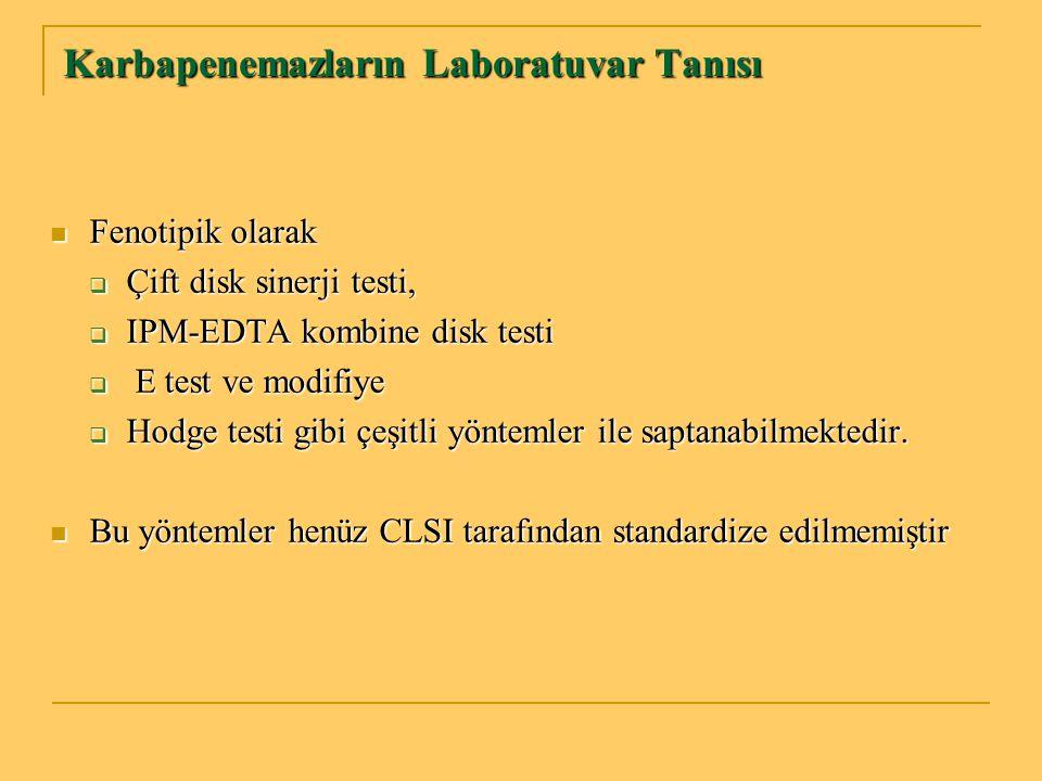 Karbapenemazların Laboratuvar Tanısı