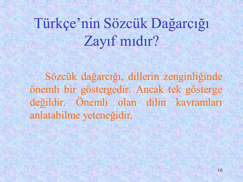 Türkçe'nin Sözcük Dağarcığı Zayıf mıdır