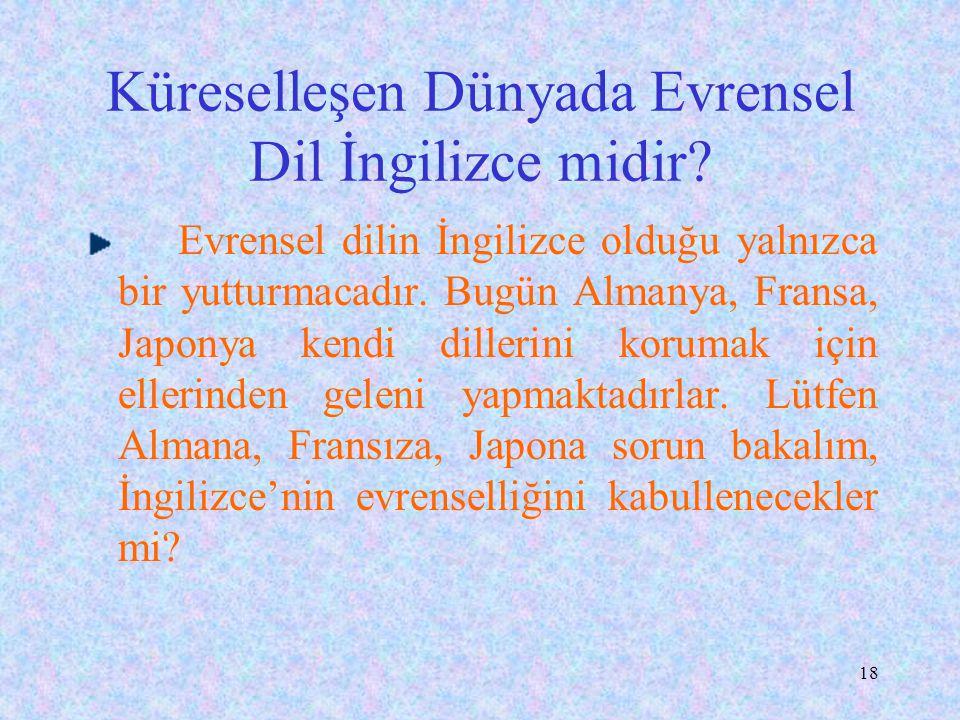 Küreselleşen Dünyada Evrensel Dil İngilizce midir