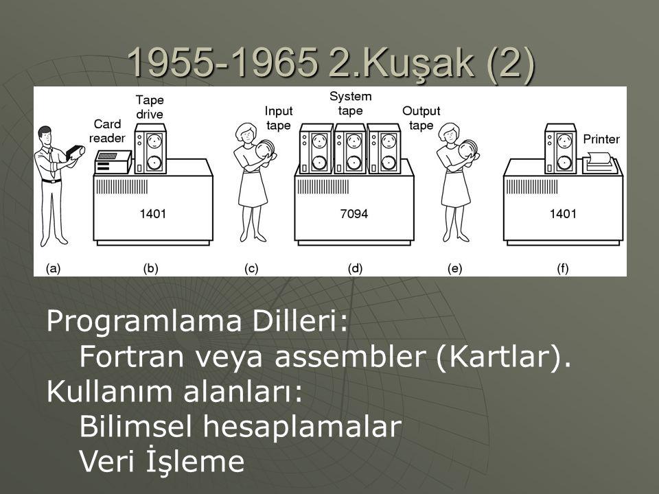 1955-1965 2.Kuşak (2) Programlama Dilleri:
