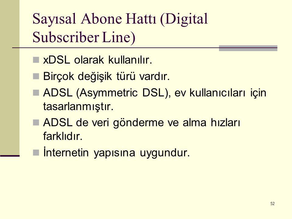 Sayısal Abone Hattı (Digital Subscriber Line)