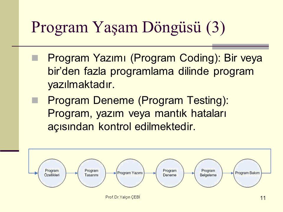 Program Yaşam Döngüsü (3)