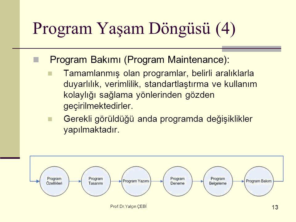 Program Yaşam Döngüsü (4)