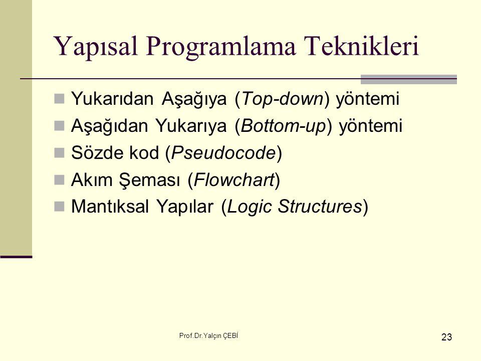 Yapısal Programlama Teknikleri