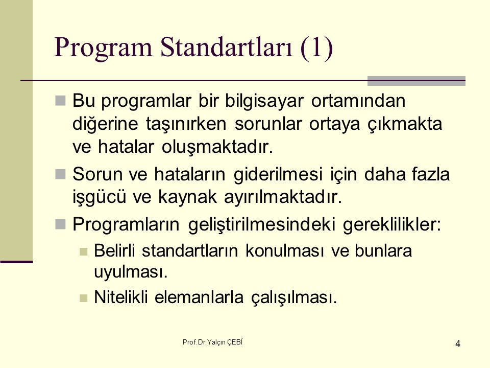 Program Standartları (1)