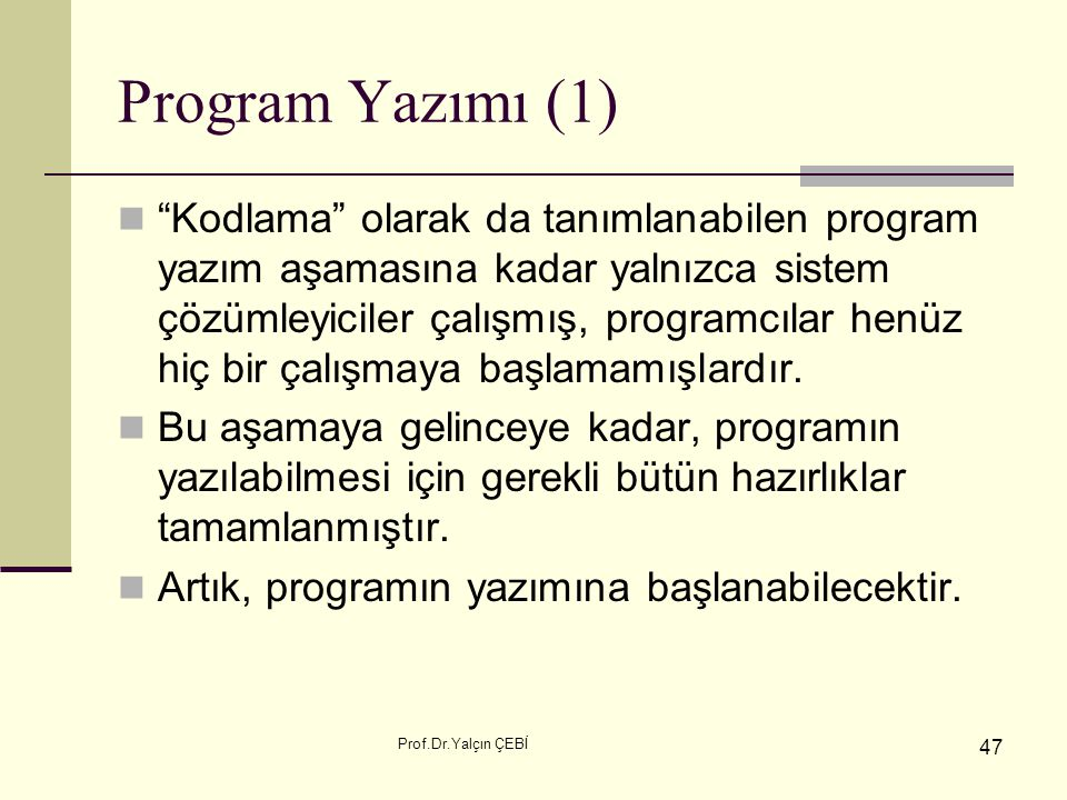 Program Yazımı (1)