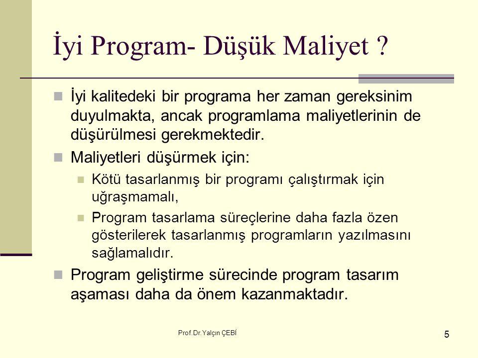 İyi Program- Düşük Maliyet