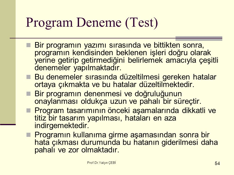 Program Deneme (Test)