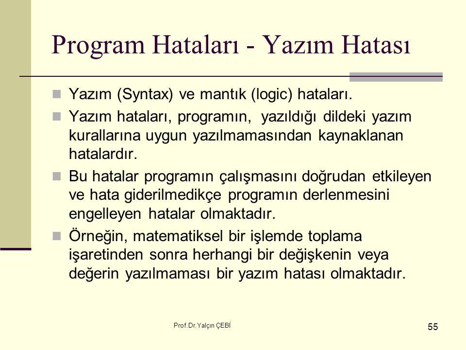 Program Hataları - Yazım Hatası