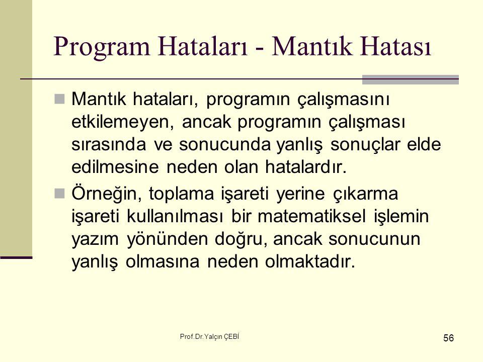 Program Hataları - Mantık Hatası