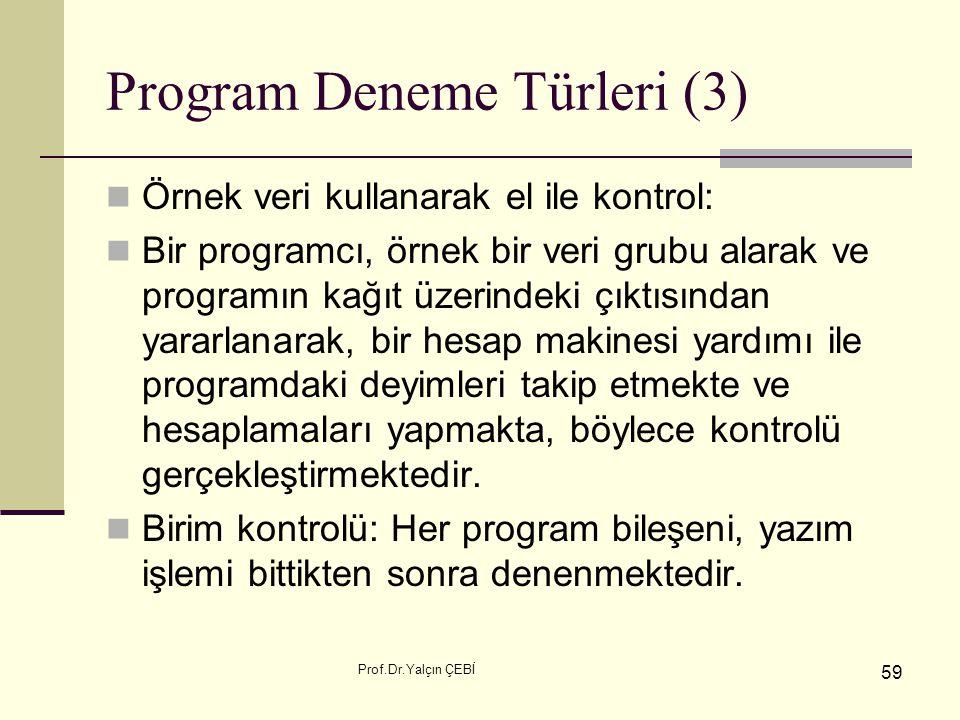 Program Deneme Türleri (3)