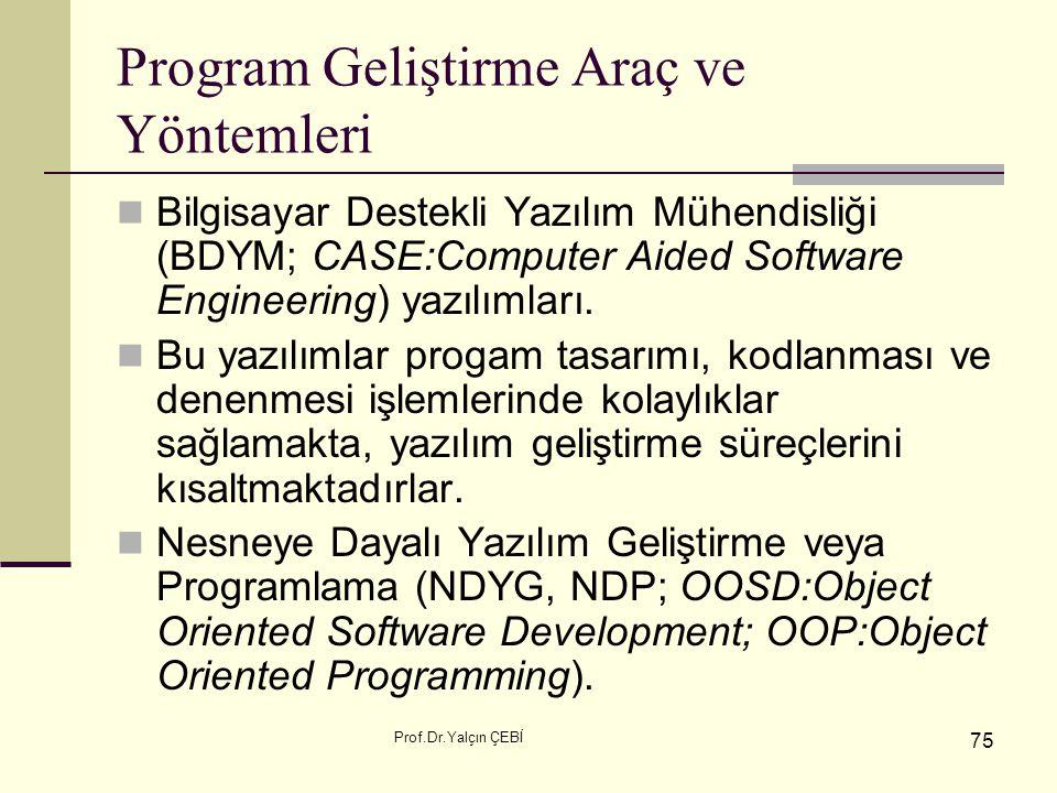 Program Geliştirme Araç ve Yöntemleri