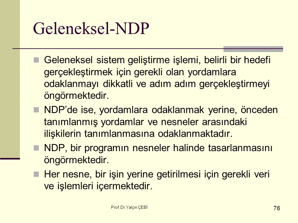 Geleneksel-NDP