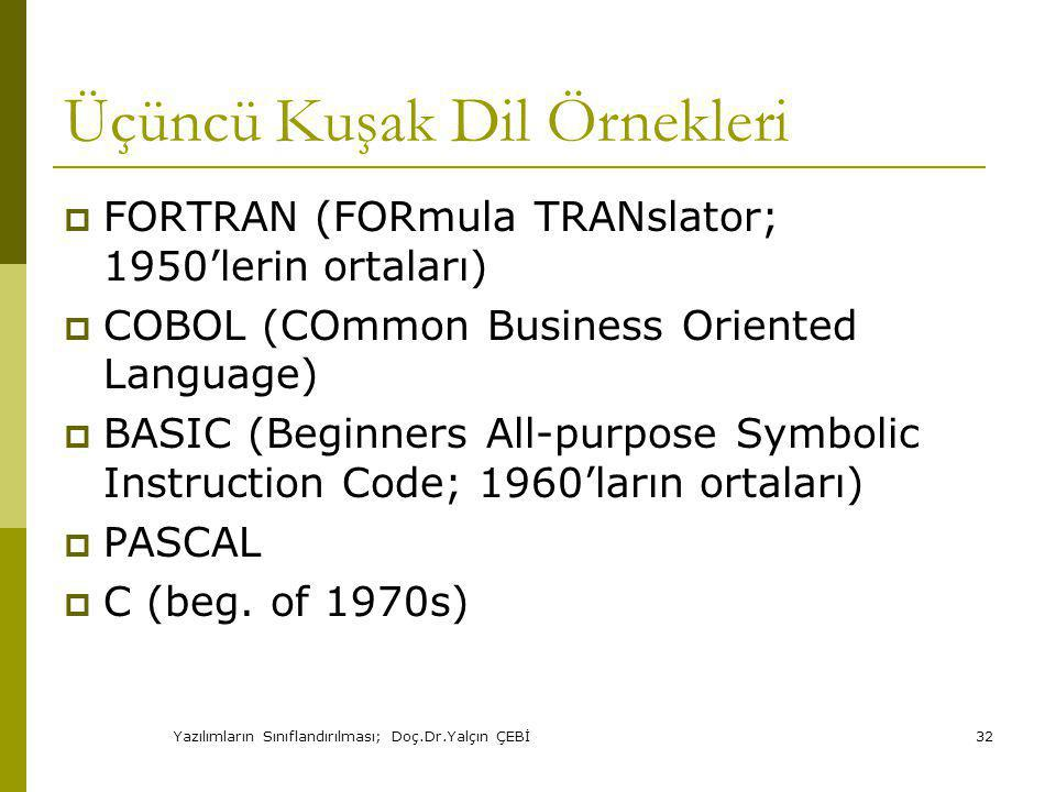 Üçüncü Kuşak Dil Örnekleri