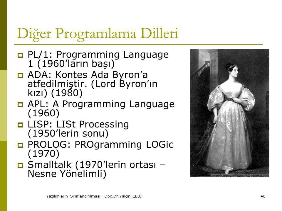 Diğer Programlama Dilleri
