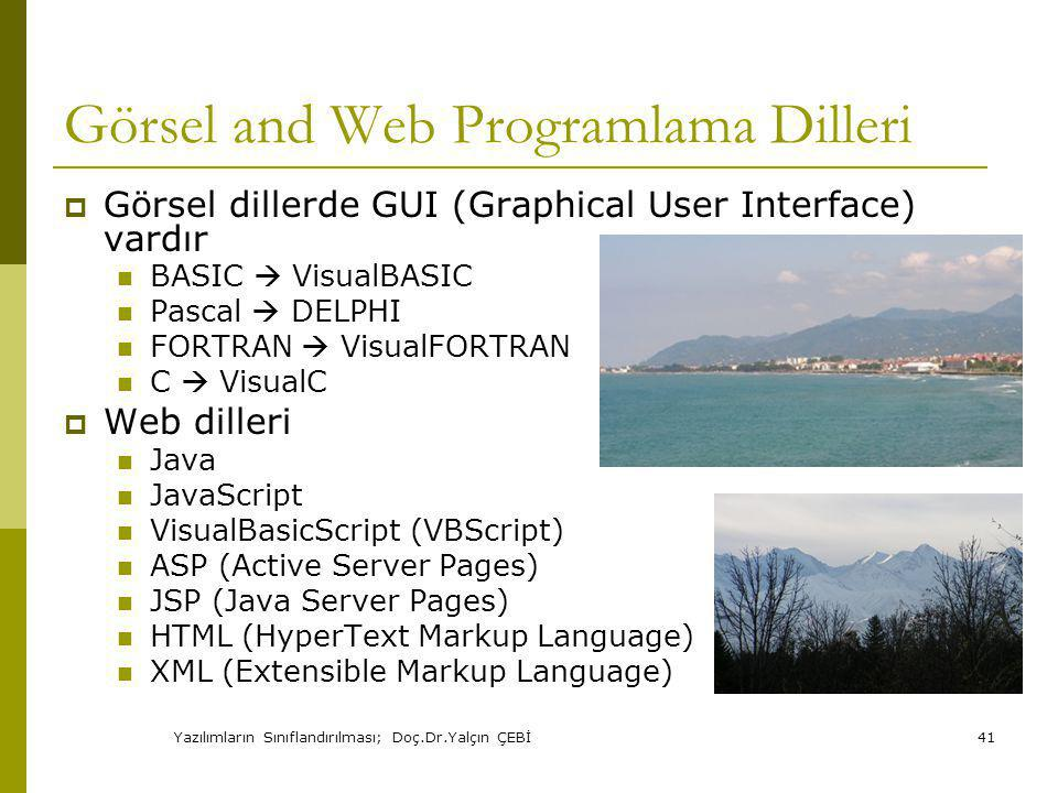 Görsel and Web Programlama Dilleri