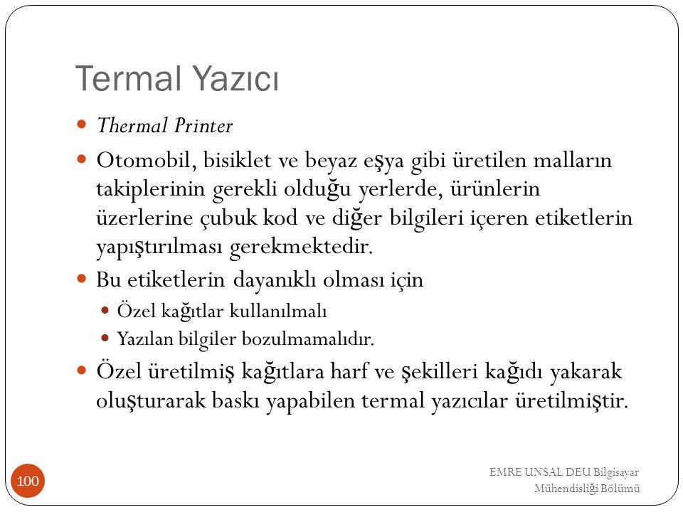 Termal Yazıcı Thermal Printer