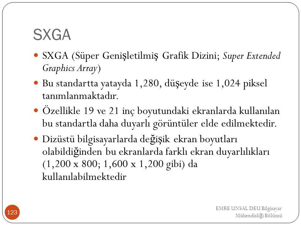 SXGA SXGA (Süper Genişletilmiş Grafik Dizini; Super Extended Graphics Array)