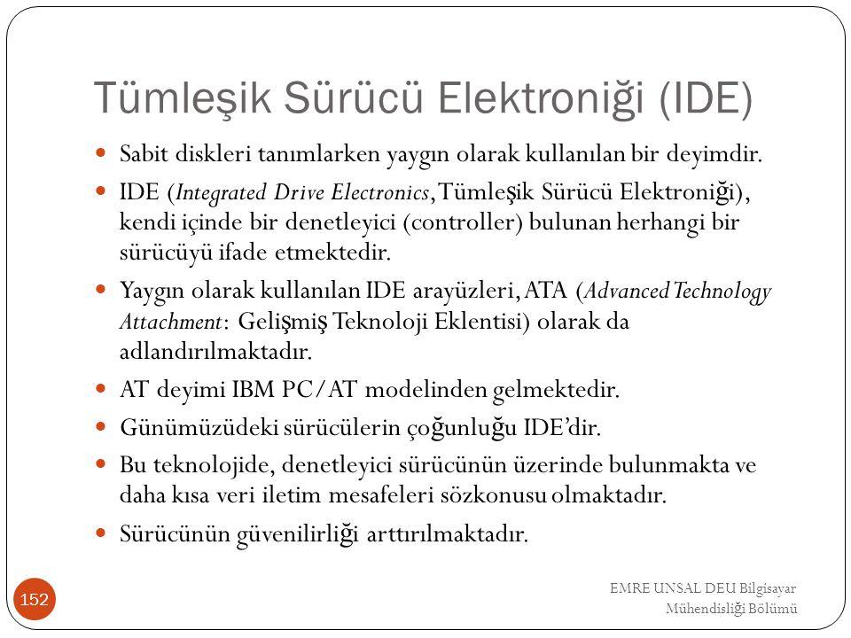 Tümleşik Sürücü Elektroniği (IDE)