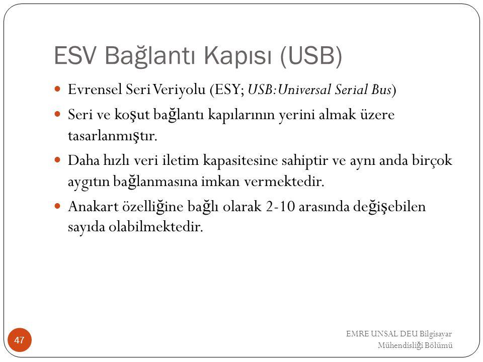 ESV Bağlantı Kapısı (USB)