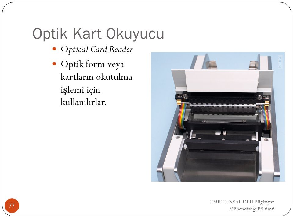 Optik Kart Okuyucu Optical Card Reader
