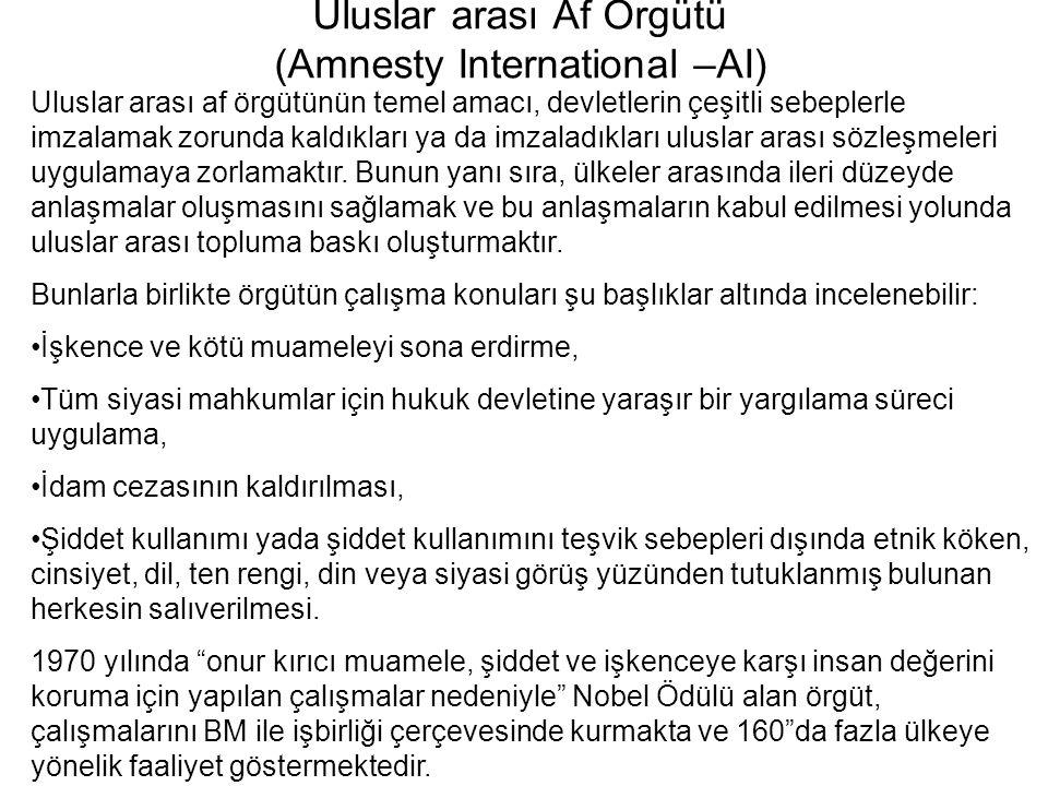 Uluslar arası Af Örgütü (Amnesty International –AI)