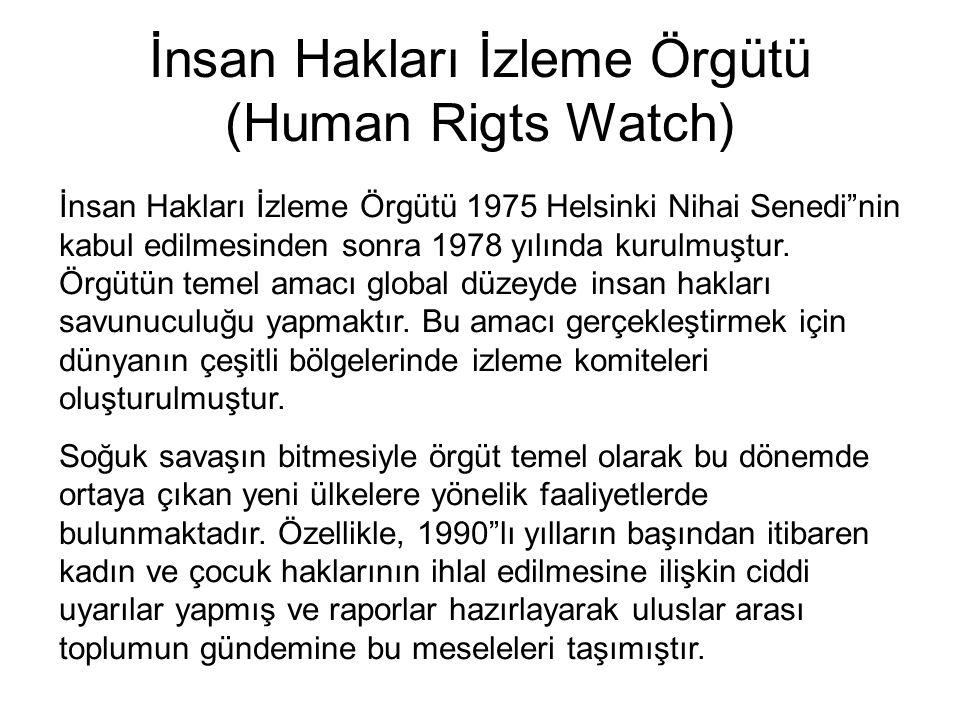 İnsan Hakları İzleme Örgütü (Human Rigts Watch)