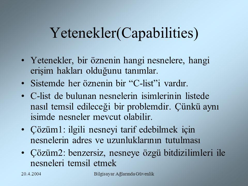 Yetenekler(Capabilities)