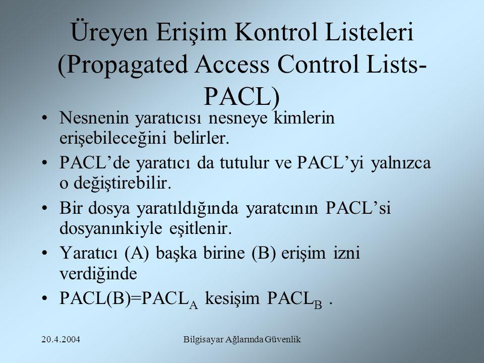 Üreyen Erişim Kontrol Listeleri (Propagated Access Control Lists-PACL)