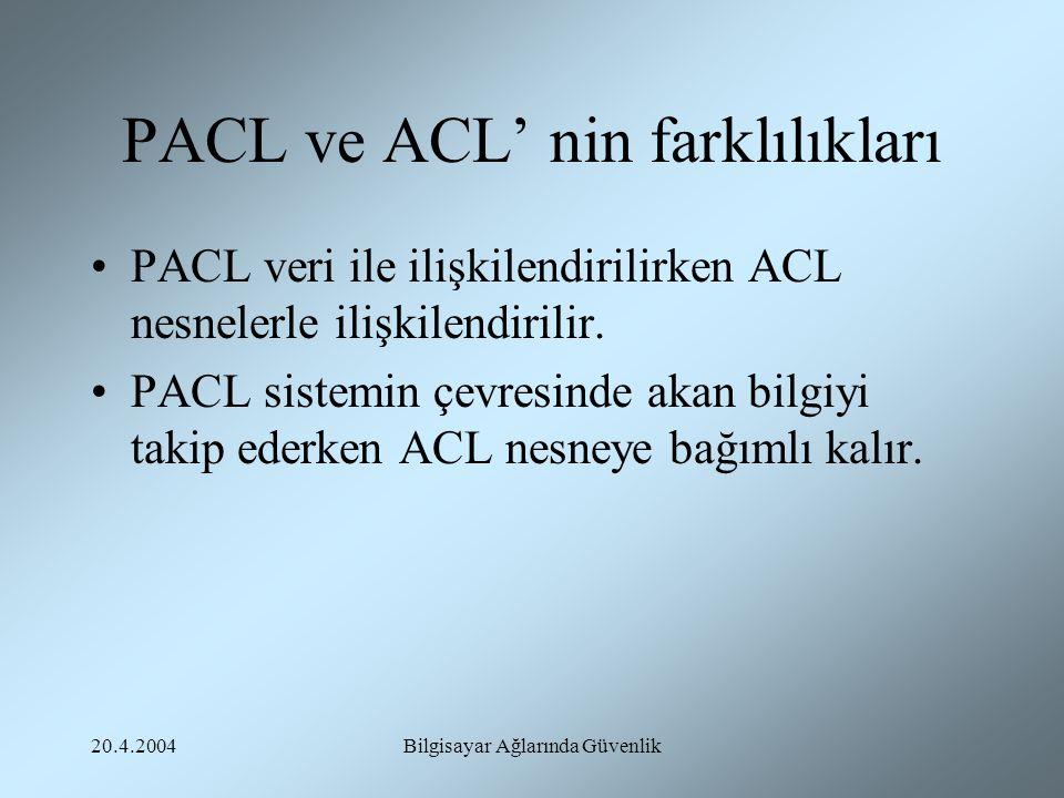 PACL ve ACL' nin farklılıkları