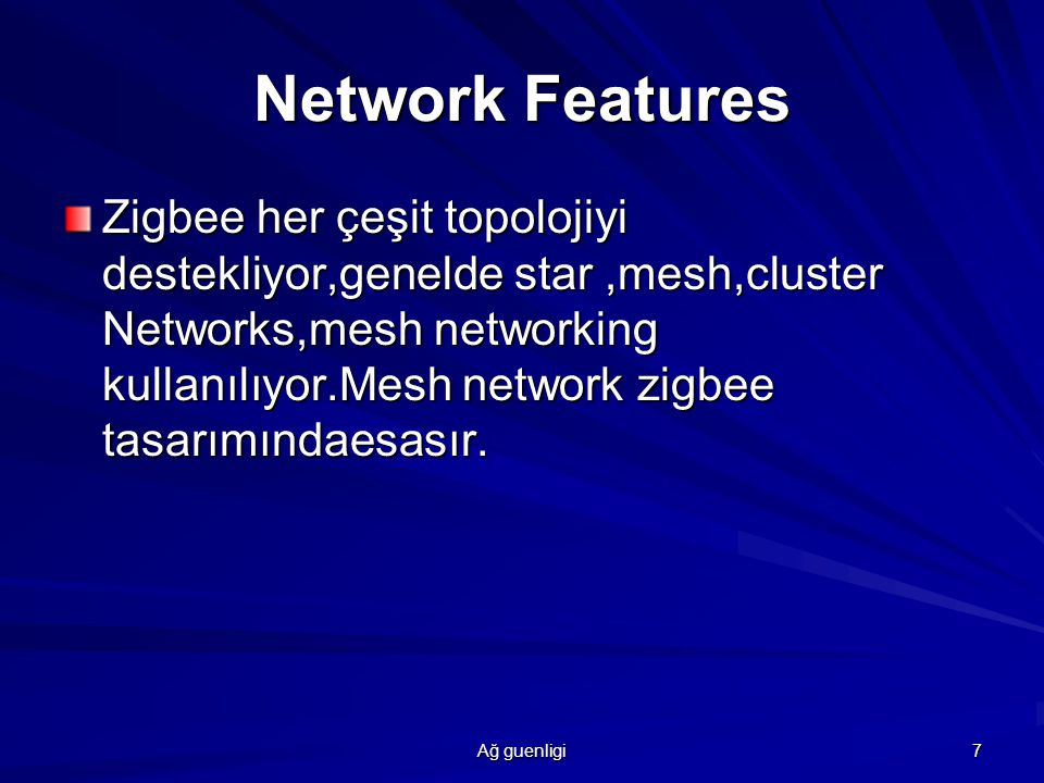 Network Features