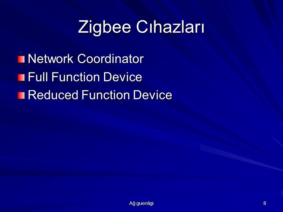 Zigbee Cıhazları Network Coordinator Full Function Device