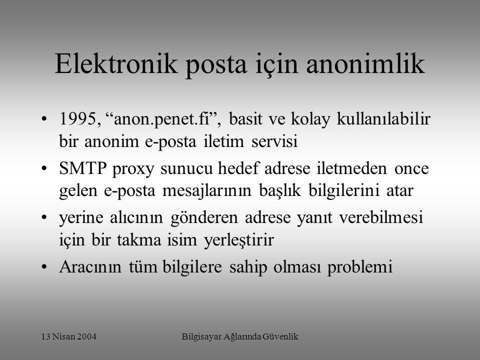 Elektronik posta için anonimlik