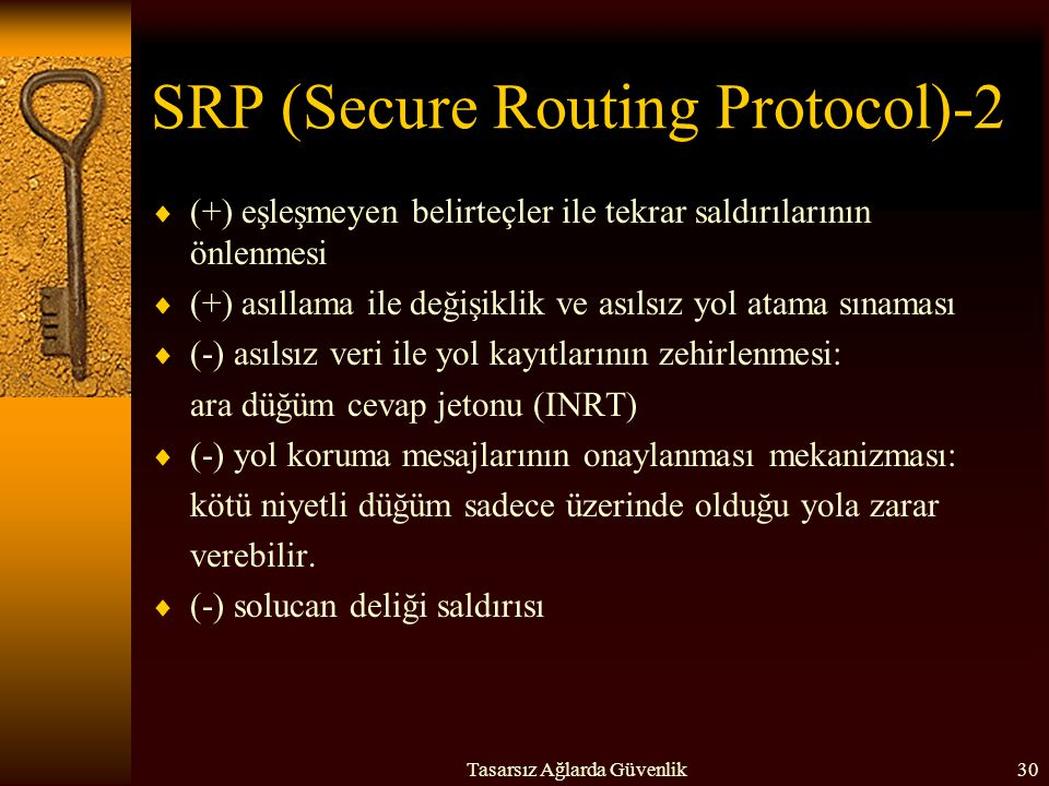 SRP (Secure Routing Protocol)-2