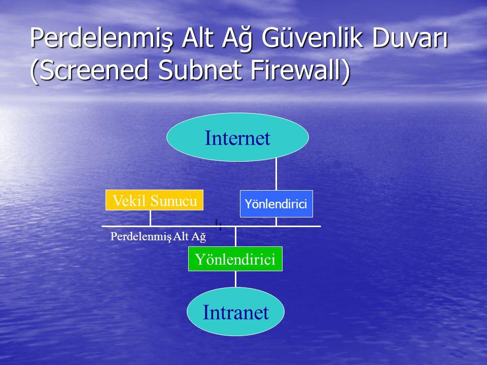 Perdelenmiş Alt Ağ Güvenlik Duvarı (Screened Subnet Firewall)