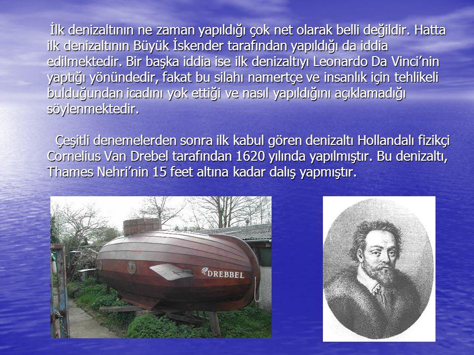 İlk denizaltının ne zaman yapıldığı çok net olarak belli değildir