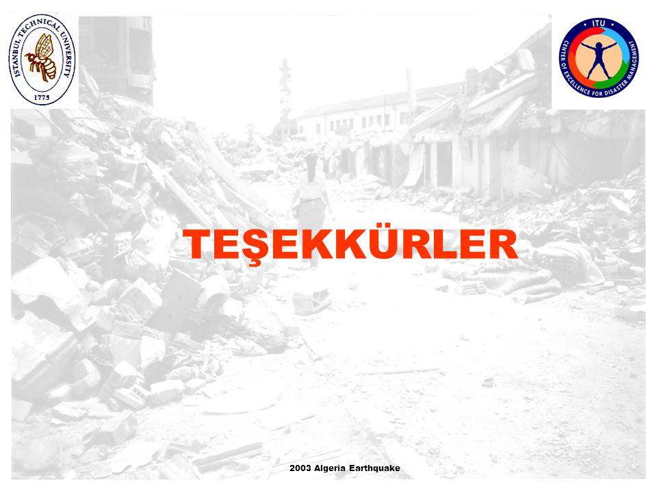 TEŞEKKÜRLER dd 2003 Algeria Earthquake