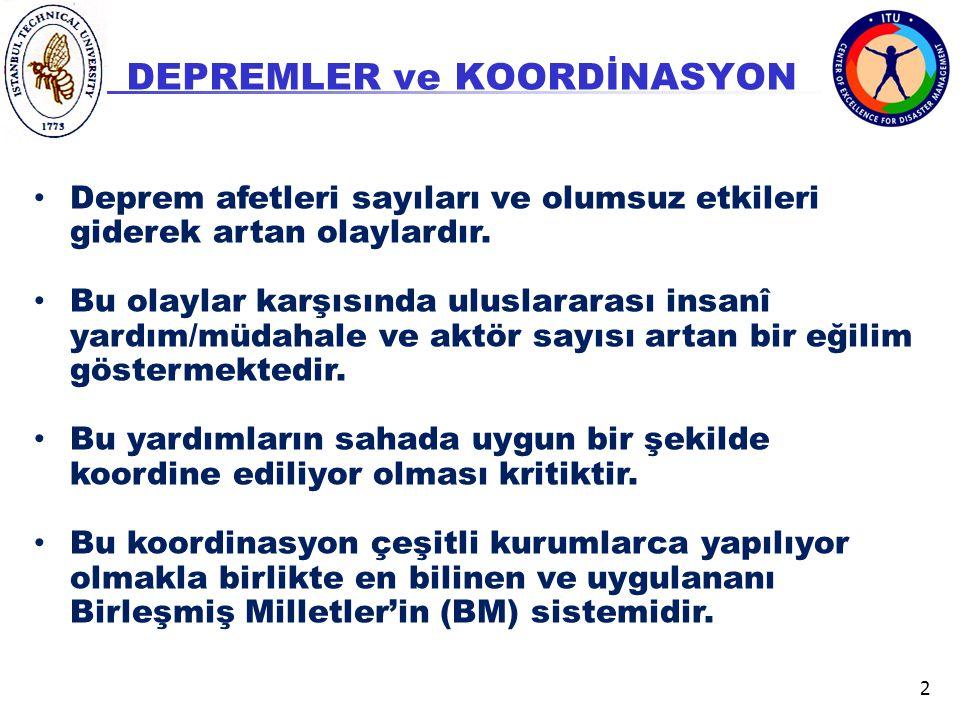 DEPREMLER ve KOORDİNASYON