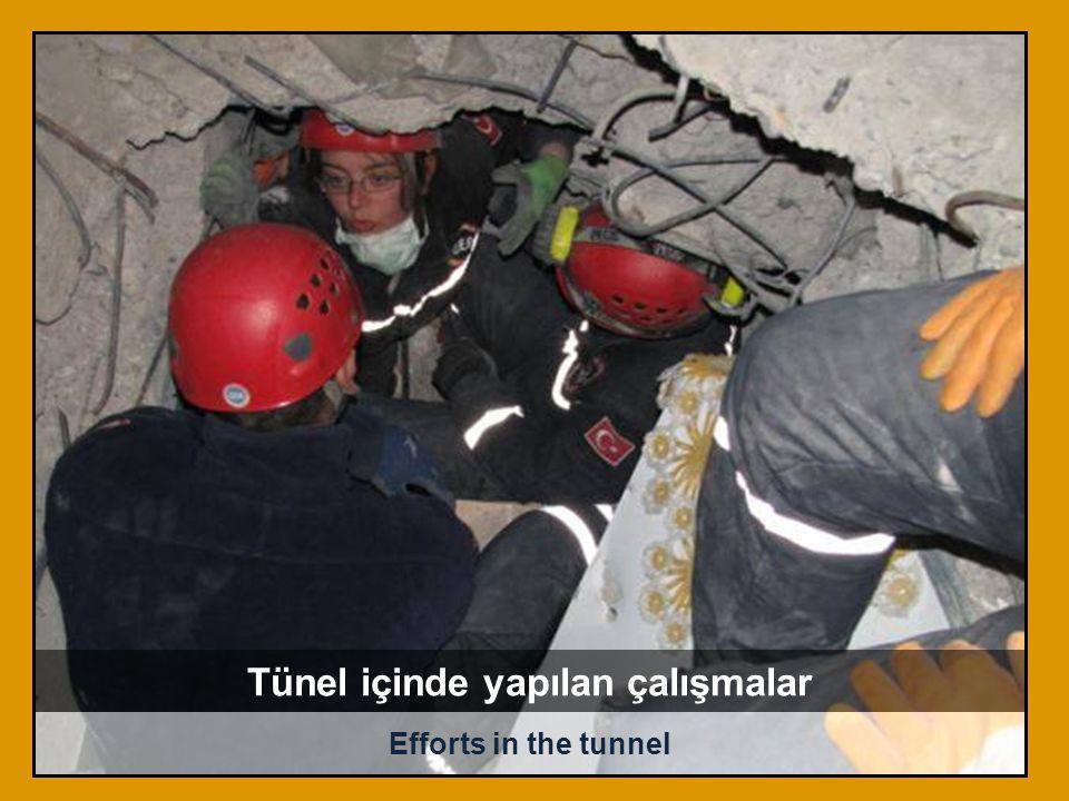 Tünel içinde yapılan çalışmalar
