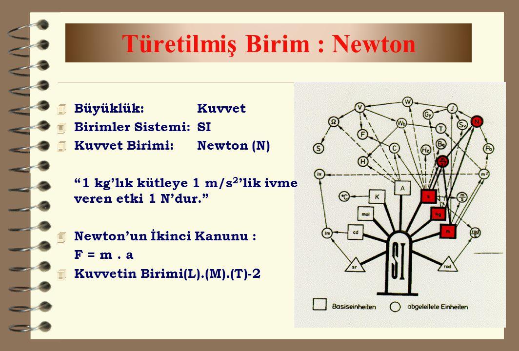 Türetilmiş Birim : Newton