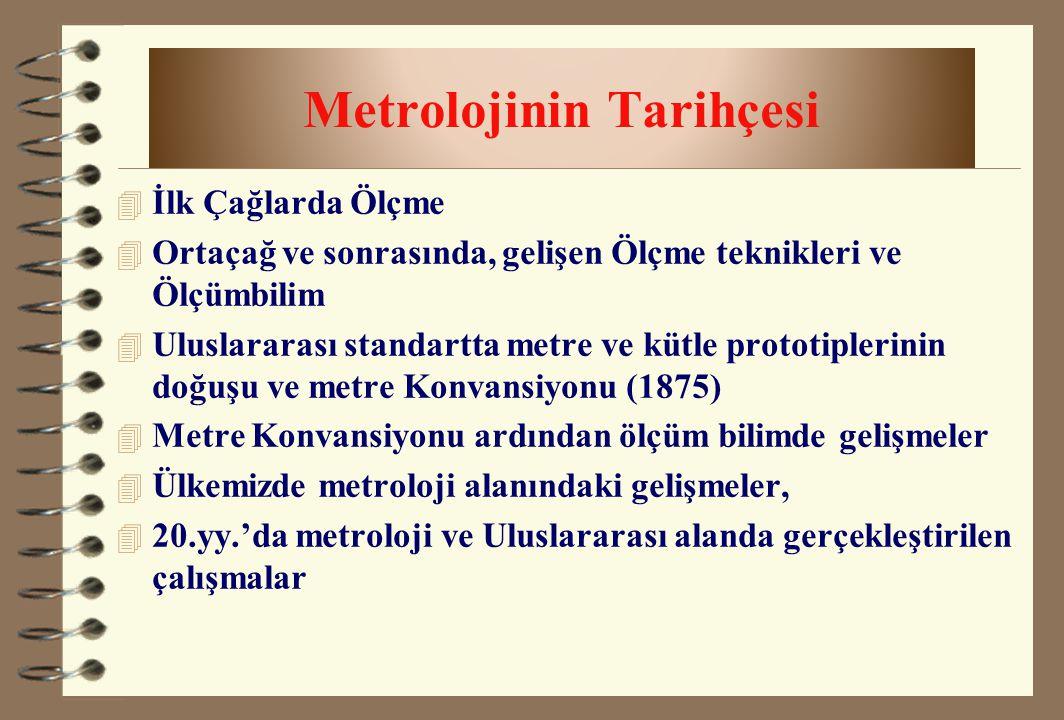 Metrolojinin Tarihçesi