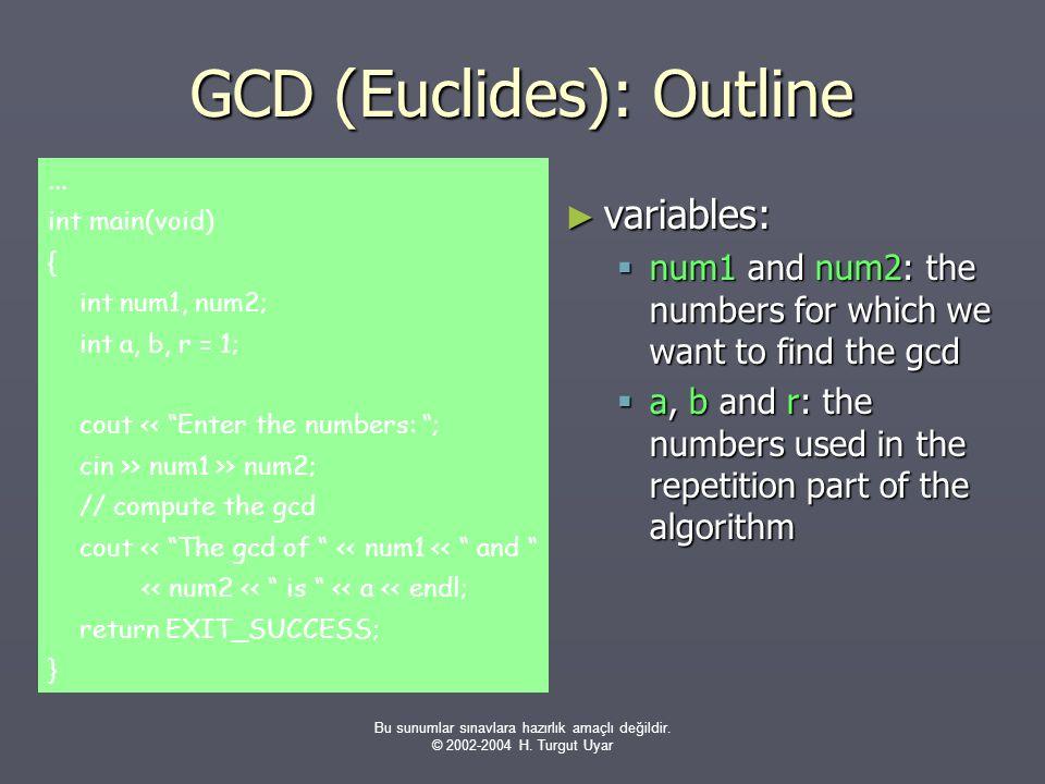GCD (Euclides): Outline