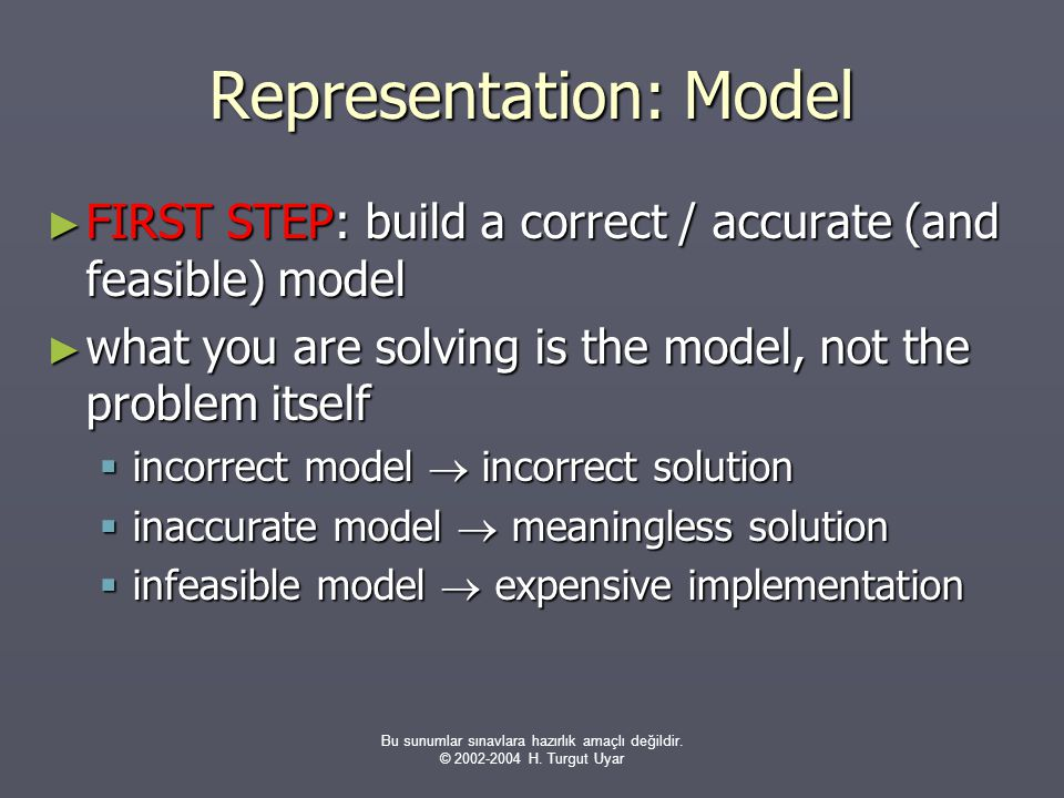 Representation: Model
