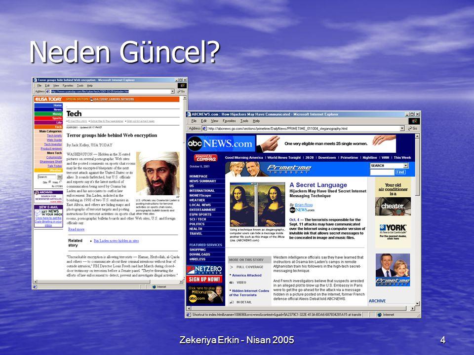 Neden Güncel Zekeriya Erkin - Nisan 2005