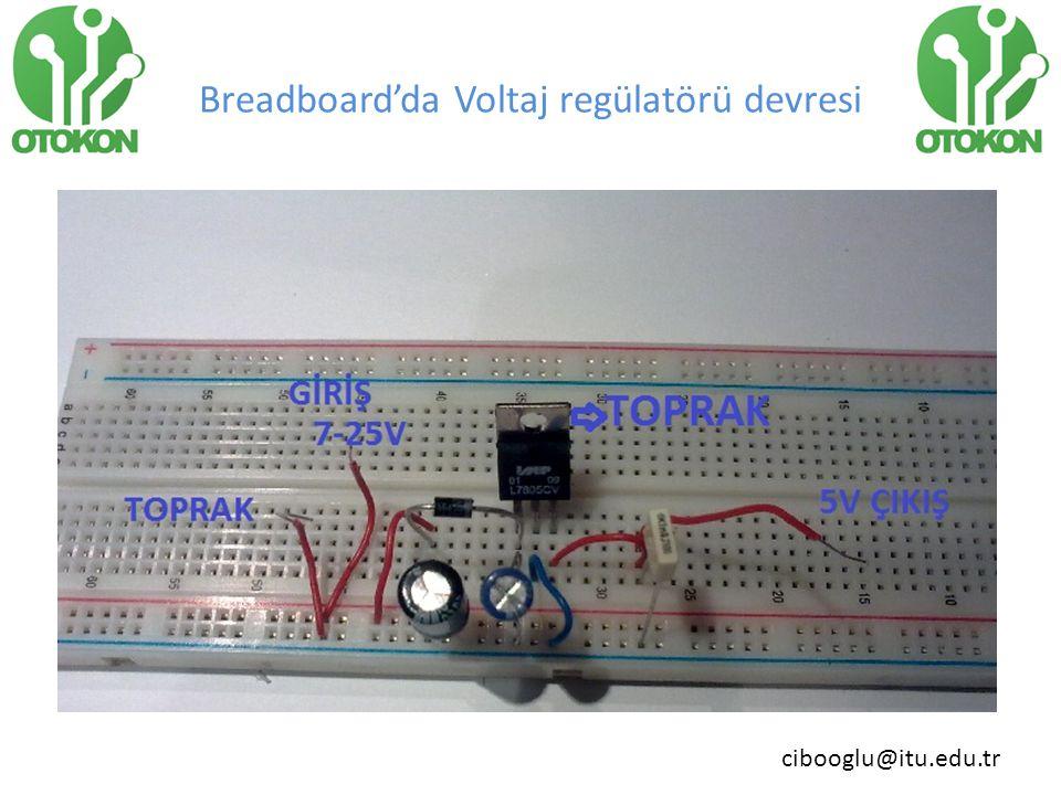 Breadboard'da Voltaj regülatörü devresi
