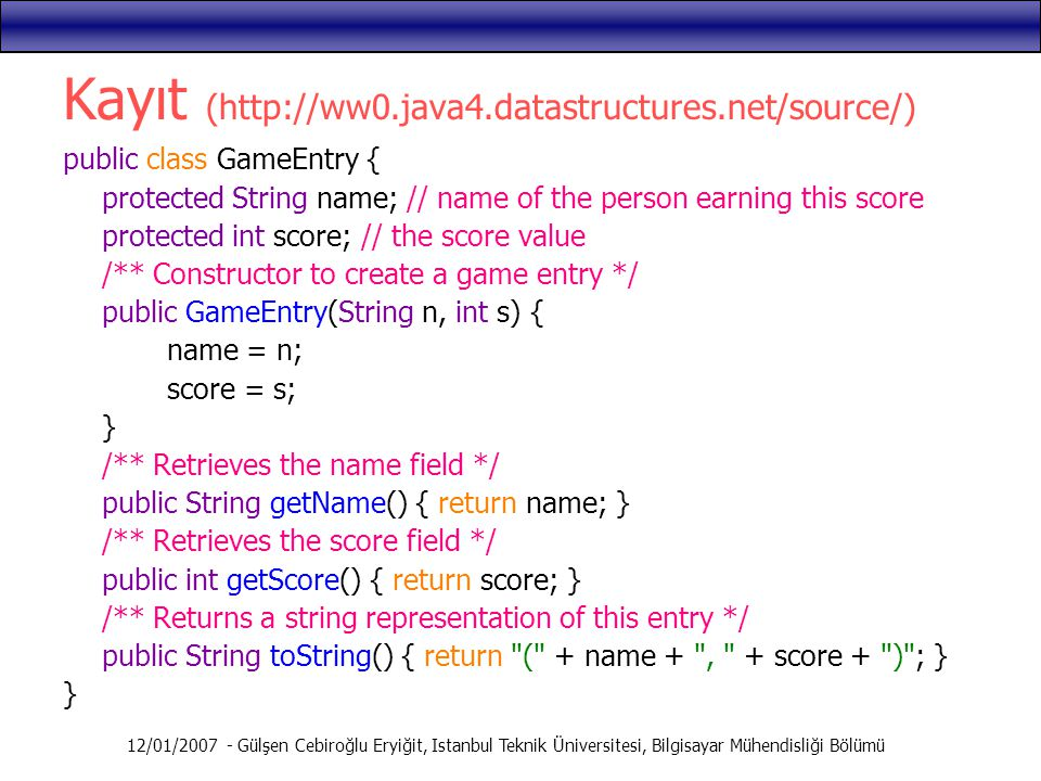Kayıt (http://ww0.java4.datastructures.net/source/)