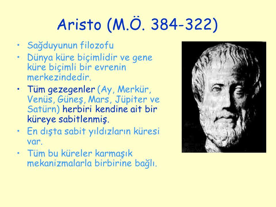 Aristo (M.Ö. 384-322) Sağduyunun filozofu
