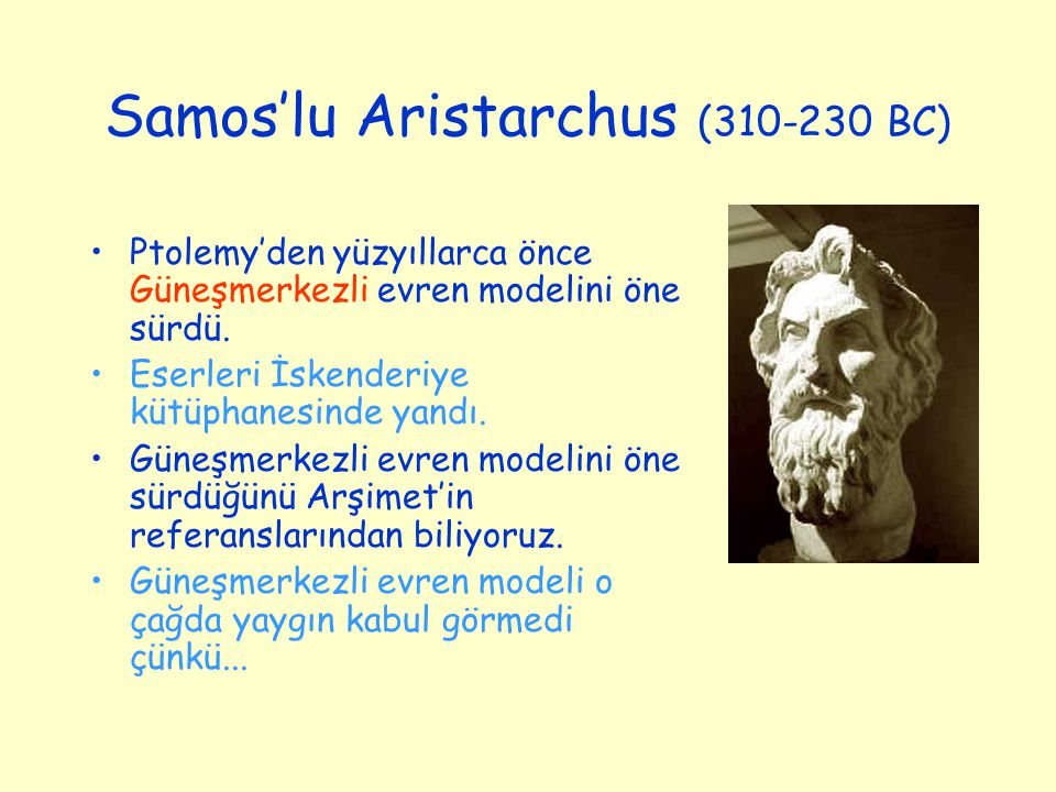 Samos'lu Aristarchus (310-230 BC)