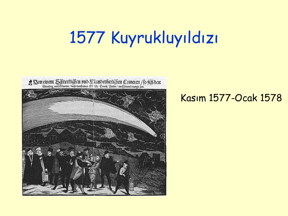 1577 Kuyrukluyıldızı Kasım 1577-Ocak 1578